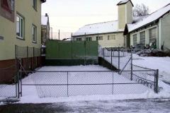 Die Tenniswand im Winter