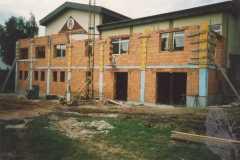 1995-09-22 Schalung der Betonsäulen im Erdgeschoß
