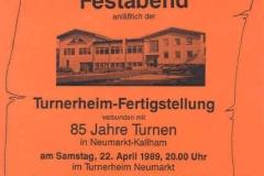 1989-04-22 Einladung zum Festabend 85 Jahre Turnverein