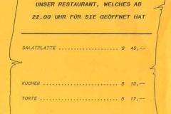 1989-04-22 Speisekarte 85 Jahre NTV Festabend