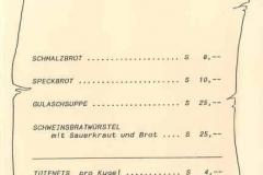 1989-05-06 Speisekarte Maibaumkraxeln