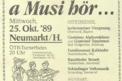 1989-10-25 Einladung Volksmusikabend