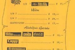 1989-10-25 Speisekarte Volksmusikabend