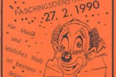 1990-02-27 Einladung Faschingsausklang