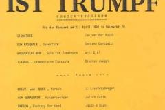 1990-04-27 Programm Konzert der Gendarmeriemusik OÖ
