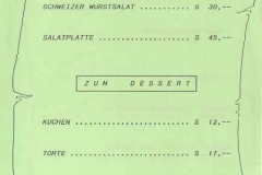 1990-04-27 Speisekarte Konzert der Gendarmeriemusik OÖ