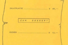 1991-11-30 Speisekarte Wunschkonzert Trachtenkapelle Kallham