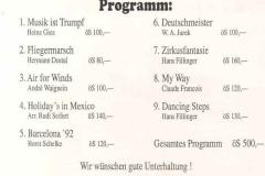 1992-06-13 Programm Wunschkonzert Spielmannszug