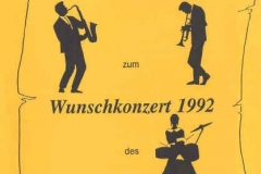 1992-06-13 Speisekarte Wunschkonzert Spielmannszug
