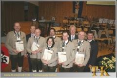 2010-12-11 Langjährige Mitglieder der Trachtenkapelle