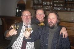 2010-12-21 Zu später Stunde kommt auch noch der Obmann ins Turnerheim