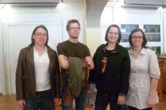 2011-04-02 Ein Teil der Neumarkter Kampfrichter: Bianca, Florian, Karin und Doris