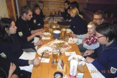 2011-10-29 Mahlzeit für den Spielmannszug bei einer sehr guten Jause