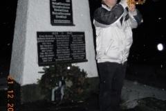 2011-12-21 Obmann Stv. Hans Leeb beim Trompetenruf