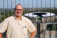 2016-09-23 Blick auf das Olympiastadion vom Glockenturm