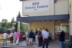 2017-07-07 Empfang vor dem Turnerheim bei heißen Temperaturen