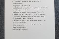 2020-09-25 Auflistung des Inhalts der Zeitkapsel
