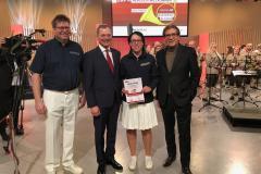 2019-01-31 ORF OÖ Landesstudio, Finale Aufweckbläser - Braunbock, LH Stelzer, Wassermayr, LD Rammerstorfer