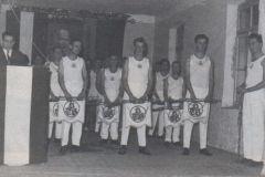 1957-12-14 Fanfarenzug bei der Julfeier
