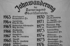 Die erste Jahnwanderfahne, 1963-1976