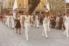 1965 Traditionsfahne beim Festzug Gauturnfest Freistadt