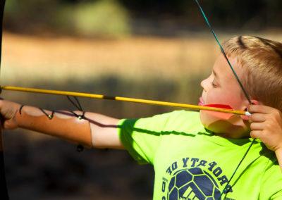 Pfeil, Bogen und ein Ziel