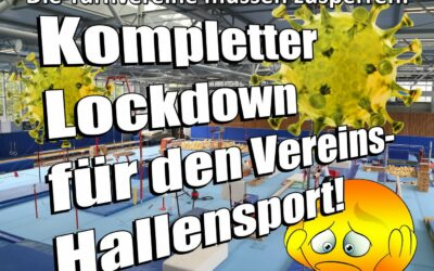 Lockdown im Hallensport ab 3.Nov.2020