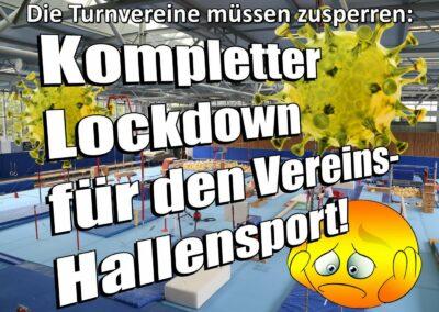 Lockdown im Hallensport ab 3.Nov.2020